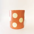 Cactus planter or Desk organiser - orange spot