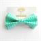 Junior Bow Tie Aqua Geometric