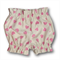 SIZE 000 Pink Hearts on linen look cotton Ruffle Bloomers