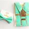 Aqua Geometric Braces and Bow Tie Set. toddler, page boy, cake smash, suspenders