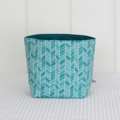 Fabric Storage / Gift Basket - Green Arrows