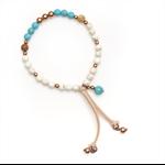 Sorrento white stone beaded bracelet