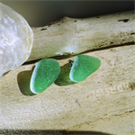 Sea glass earrings studs