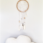 DREAM CATCHER - a dream is a wish your heart makes - white