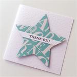Thank you with alphabet teal aqua friend boss neighbour teacher card