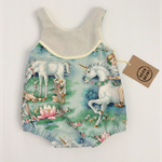 Fairytale romper size 0, summer romper, girl, gift, unicorn