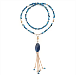 Santorini Blue Agate beaded necklace