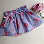 SIZE 0 blue floral skirt