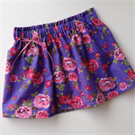 SIZE 00 Purple and pink floral skirt