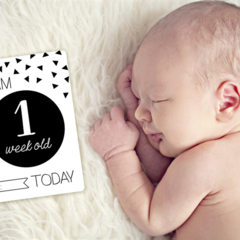 Monochrome Baby Moments and Milestones Cards - 30 Pack
