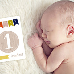 Unisex Baby Moments and Milestones Cards - 30 Pack