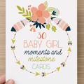 Baby Girl Moments and Milestones Cards - 30 Pack
