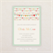 Neutral Baby Shower Invitation. Rainbow buntings. I Customise, You Print.
