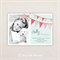Photo Birthday Party Invitations. Pink buntings. I Customise, You Print.