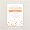 Neutral Baby Shower Invitation. Colorful confetti. I Customise, You Print.