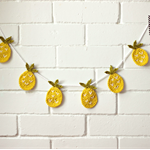 pineapple love | crochet garland | party bunting | nursery room decor