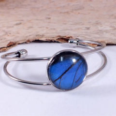 Ulysses Butterfly Wing Bracelet - REAL blue and black Butterfly wing