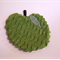GREEN APPLE POTHOLDER HEATPAD, vintage chenille and linens