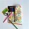 Lge Owl Print Pencil Roll - inc 24 pencils, retro, school, colour, bunting