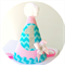 Baby Girl 1st Birthday Party Outfit Party Hat Aqua and Pink