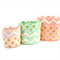 GLITZ Reversible Fabric Bucket Trio in Dots & Chevron - Blush, Confection & Mist