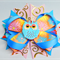 Bella 'Owl' Bow in Pink & Blue
