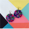 Designer Fabric Earrings  Boho