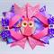 Bella 'Owl' Bow in Purple & Pink