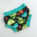 Puff Dragon Boubba bums nappy pants -trendy funky nappy covers for summer