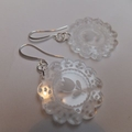 Silver & Perspex Doily Earrings
