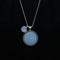 SOLD OUT Blue Mandala~ Silver Plate Pendant