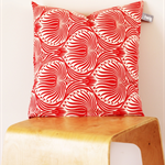 Twig Cushions for the Nest - Red Floral Linen / Cotton