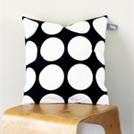Twig Cushions for the Nest - White Circles on Black