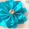 Turquoise Hair Clip*Double layer flower