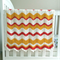 mustard, yellow, red, zig-zag, chevron, crochet blanket, acrylic, bedding