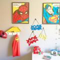 Kapow, Bam, Splat! Superhero x 3 Felt Wall Hangings