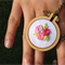 Hand Stitched Jewelry, Embroidery Hoop Necklace,Wearable Embroidery Hoop, mini h