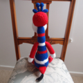 Jerry the hand crocheted Giraffe by CuddleCorner: soft, Washable, OOAK, boy