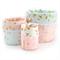 Brambleberry Ridge - Reversible Fabric Bucket Trio (Pink, Blue & White)