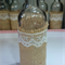 6 Small Vintage Wedding Flower Bottles - Decorations w/ Lace & Hessian