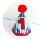 Boys 1st Birthday Party Hat Red white & blue nautical theme