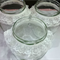 3 Large Vintage Wedding Flower Vases Decorations Jars with Frilly Lace #2