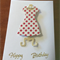 Happy Birthday Dress  card pack.  Set of four