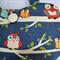 Navy owl handbag, Girls blue owl purse