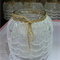 5 Large Vintage Wedding Flower Vases Decorations Jars with Thick Lace #1