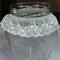 3 Large Vintage Wedding Flower Vases Decorations Jars with White Lace #3