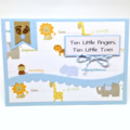 Baby Boy Card - Ten Little Fingers