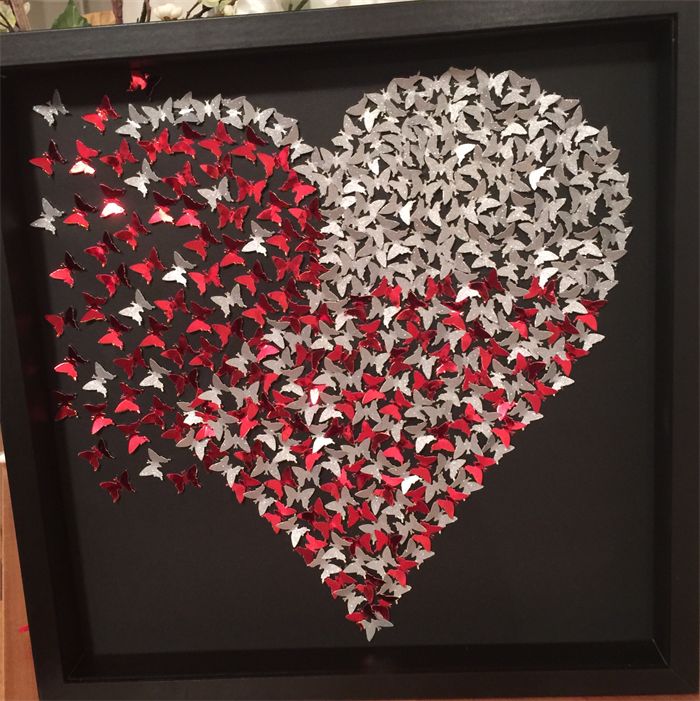 Butterflies Heart Girls Room Decor 3d Heart Frame Wall Art
