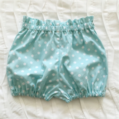 Polka Dot Paper Bag Waist Shorts