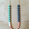 Silicone bead teething necklace for Mum